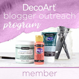deco art, blogger, diy blogger, member