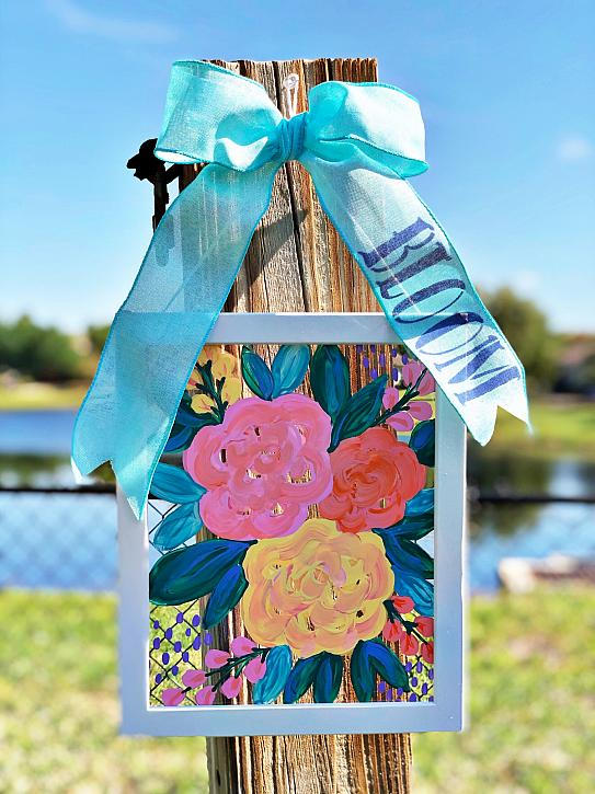 Instruction #17 - 03-21 COLORFUL FLORAL SUNCATCHER FRAME BETH WATSON PHOTO EXTRA 3