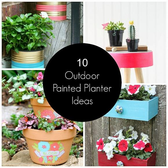 10 Outdoor Painted Planter Ideas