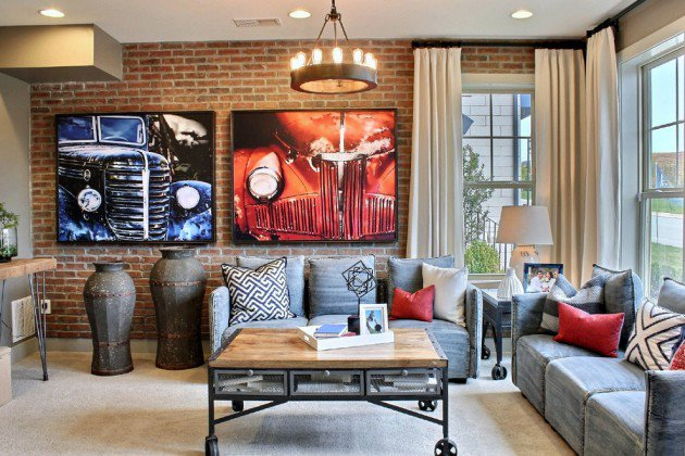 HGTV Host Brian Patrick Flynn Used Slate Blue Drapes As The Backdrop For His Eclectic Dining Room Also Features Leather Animal Prints Brass