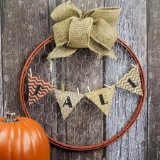 Fall Hoop Wreath