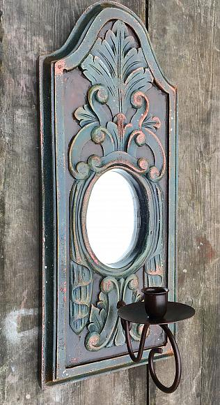 Gothic Mirror Candle Holder