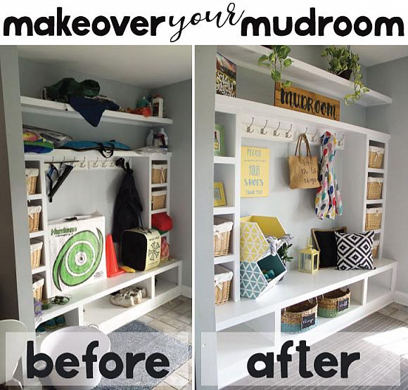 Satin Enamels Mudroom Makeover