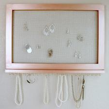 Rose Gold Frame Jewelry Organizer