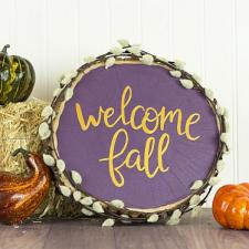 Welcome Fall Wooden Round Décor