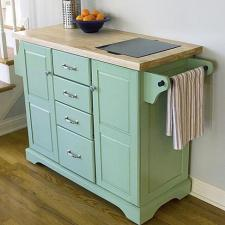 Timeless Rolling Kitchen Island