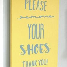 Please Remove Your Shoes Word Art Canvas