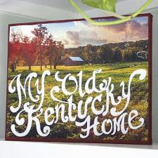 Kentucky Photo Transfer with Painted Quote