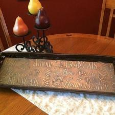 Upcycled Bronze Bread Basket