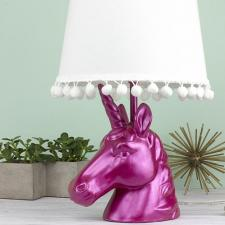 Metallic Magenta Unicorn Lamp