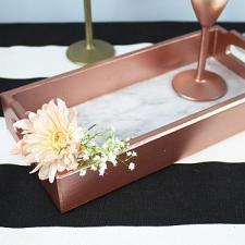 Elegant Rose Gold Marbled Tray