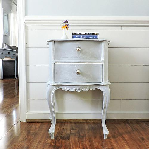 The Lines On This Night Stand Make It Look Like It Came Straight From The  Italian Countryside. To Get That Perfectly Worn Look, Vintage Effect Wash  White ...