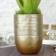 Metallic Gold and Bronze Ombre Vase