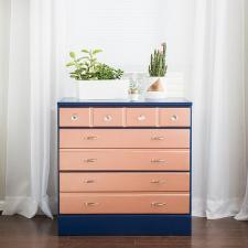 Two-Toned Rose Gold Dresser