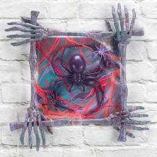 Creepy Spider Paint Poured Canvas