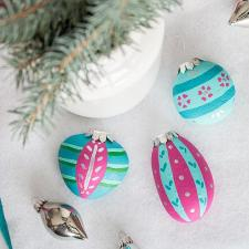 Rock Painted Christmas Ornaments