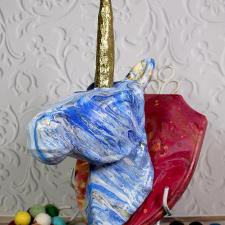Unicorn Paint Pour Wall Sconce with Glitter