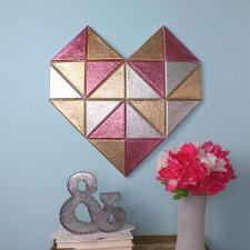 Geometric Heart Wall Décor by Morena Hockley