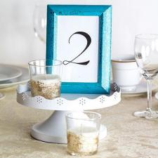 Elegant Glittered Tablescape