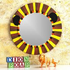 Lion-Inspired Circle Mirror by Cindy Jacobelli