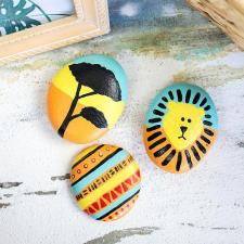 Lion King-Inspired Painted Rocks by Sonja Stevens