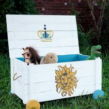 Lion King-Inspired Toy Box on Wheels by Kelly Alder-Janes