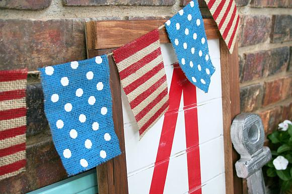 Instruction #3 - 4th of July Chalky Finish Burlap Banner 2