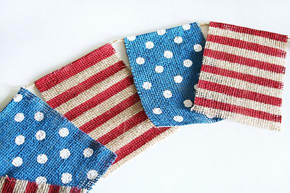 Instruction #2 - 4th of July Chalky Finish Burlap Banner 4