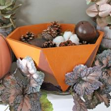 Fall Bowls with Americana Decor Texture, Chalky Finish, & Matte Metallics