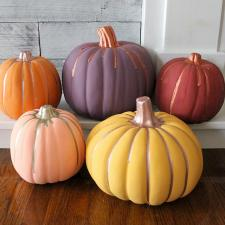 Pumpkins with Americana Decor Chalky Finish & Matte Metallics
