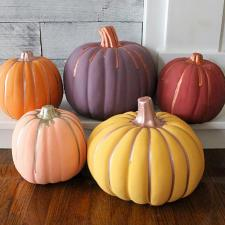 Fall Colors Painted Pumpkins