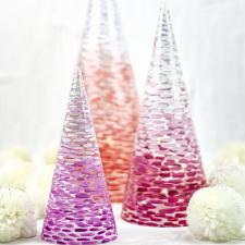 Magenta Christmas Tree Trio