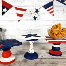 Patriotic Decorative Food Stands