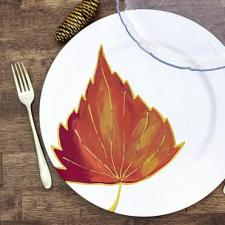 DIY Fall Leaf Chargers