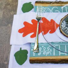 Woodland-Themed Place Mat and Napkin Set