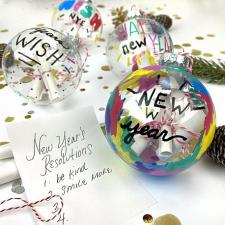 New Year\'s Resolution Ornaments