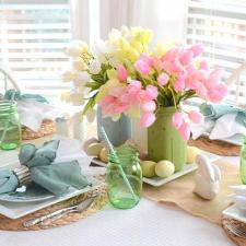 Mason Jar Easter Brunch Centerpiece