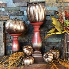 Bronze Matte Metallic Pumpkins