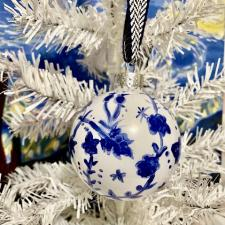 Chinoiserie-Inspired Ornaments by Our Crafty Mom