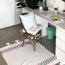 DIY Tribal Tasseled Rug by Katie Busenitz