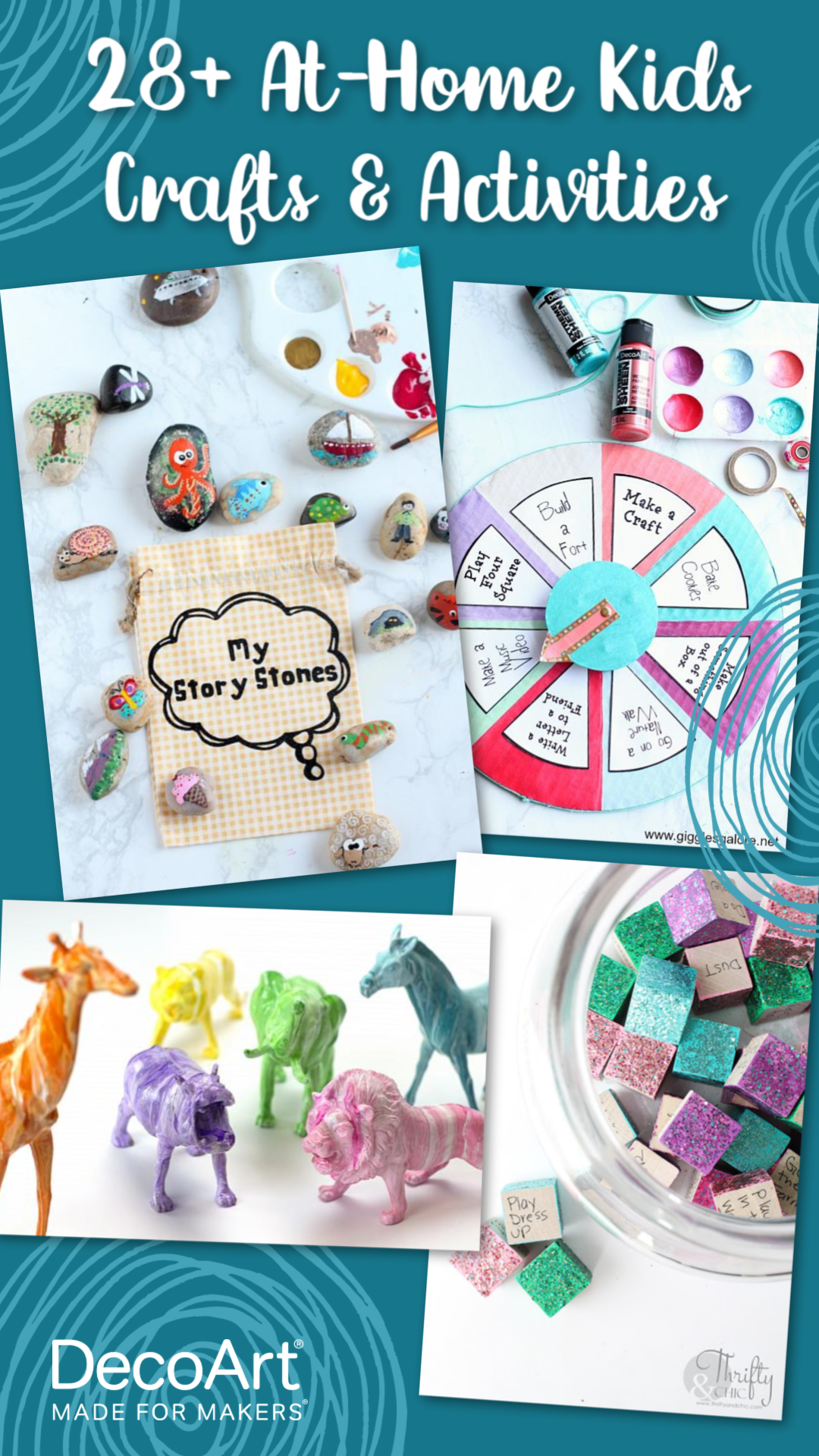 28  At-Home Kids Crafts & Activities Pinnable Image
