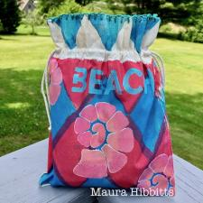 Mixed Media Beach Bag