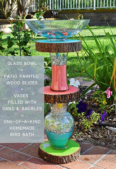 Homemade Bird Bath