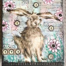 Mixed Media Bunny Canvas