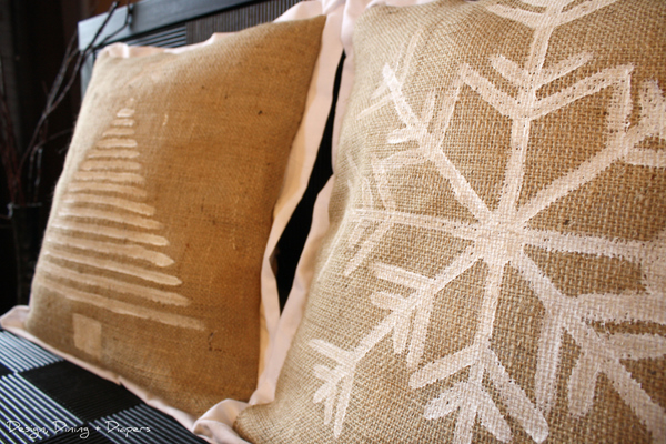 ... possibilities with these simple Burlap Holiday Pillows are endless