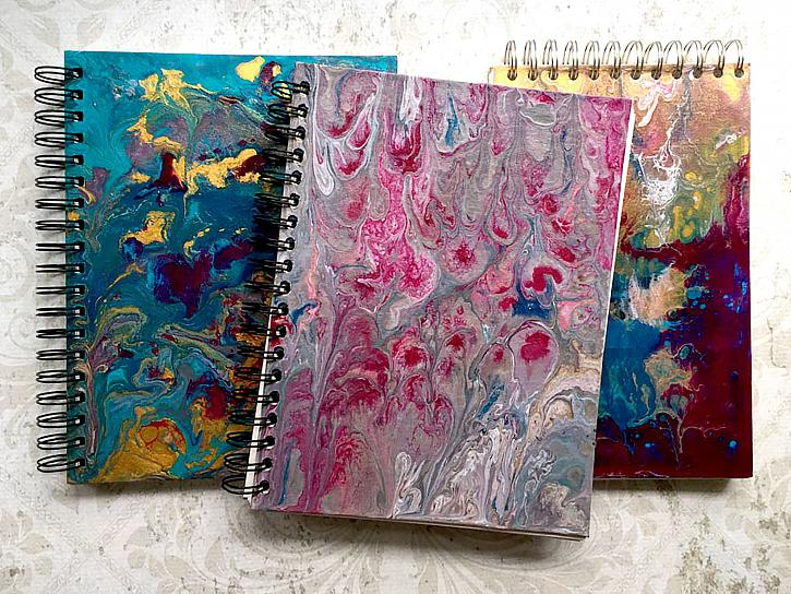 Recycled Marbled Journals