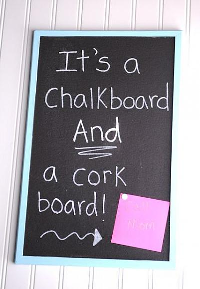 Can You Paint A Cork Notice Board
