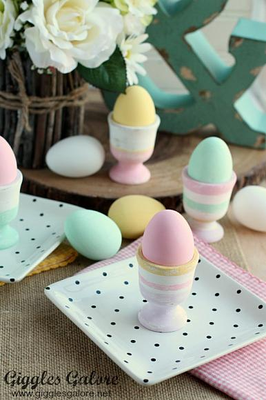 Instruction #6 - Chalky Finish Painted Egg Cups