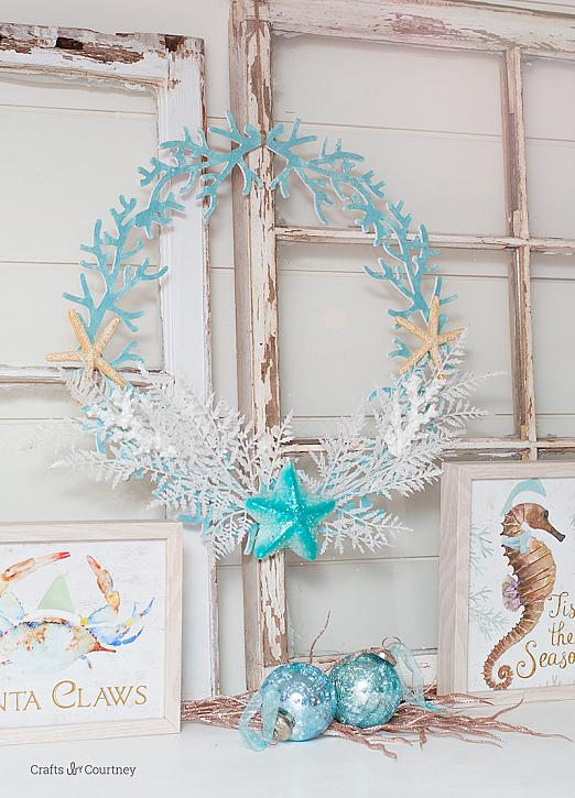 Coastal Christmas Wreath