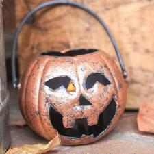 Faux Copper Jack O' Lanterns